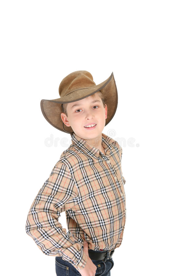 Country Cowboy Young Boy stock image