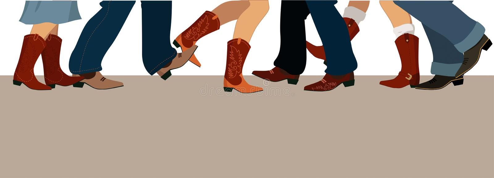 Country dancing banner royalty free illustration