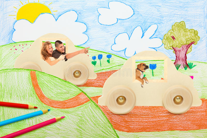 Country Drive stock illustration