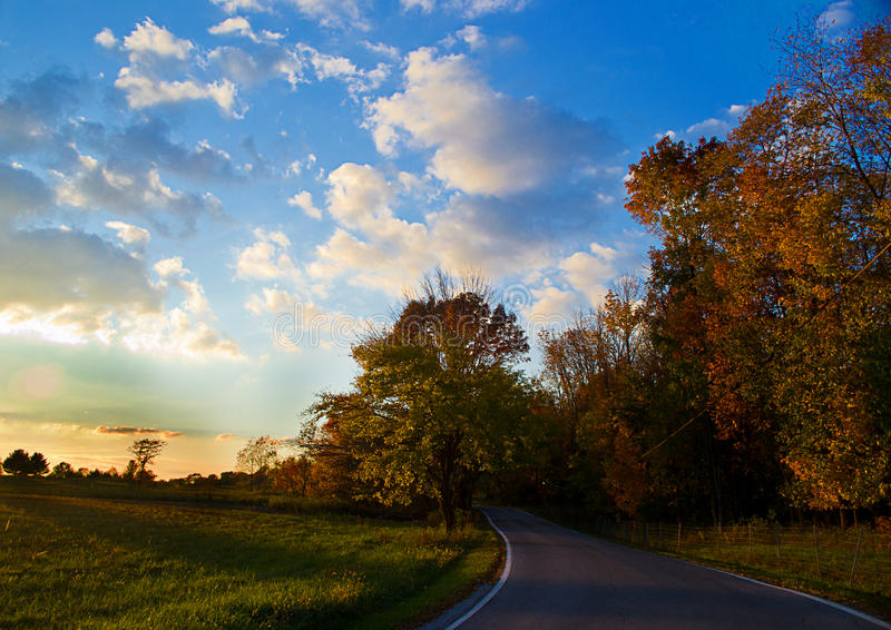 Download Country drive stock image. Image of forests, harvests - 27645977