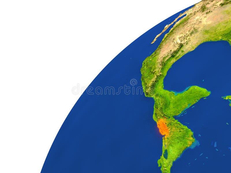 Country Of El Salvador Satellite View Stock Illustration Image - Satellite image photo of el salvador