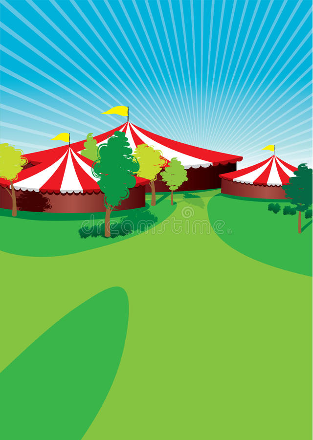 Country fair. A country fair background with trees royalty free illustration