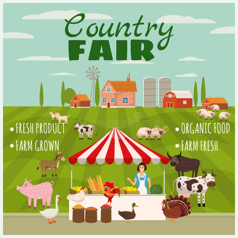 Country Fair Clipart Set/eps Stock Vector - Illustration ...