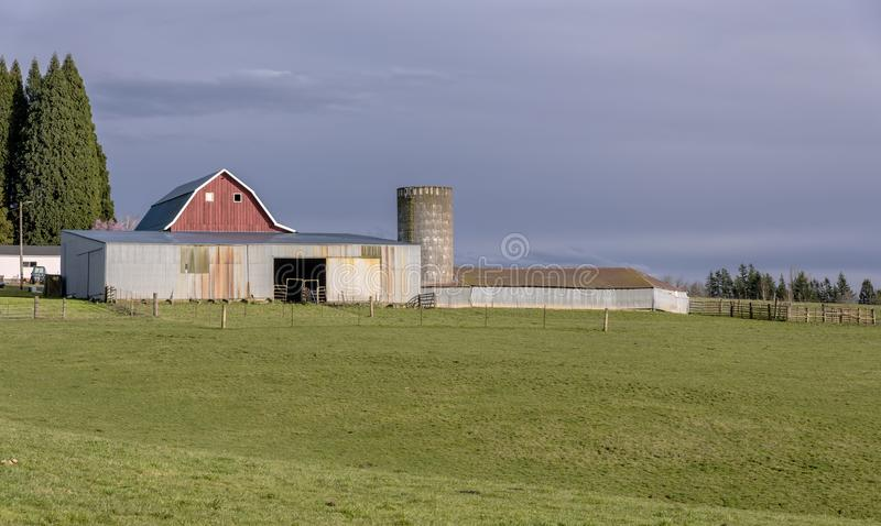 Country farm and barn in rural Oregon. royalty free stock photography