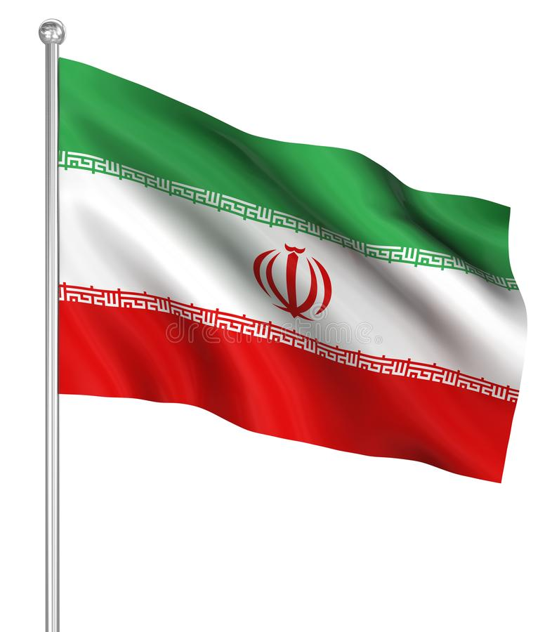 Country flag - Iran royalty free illustration