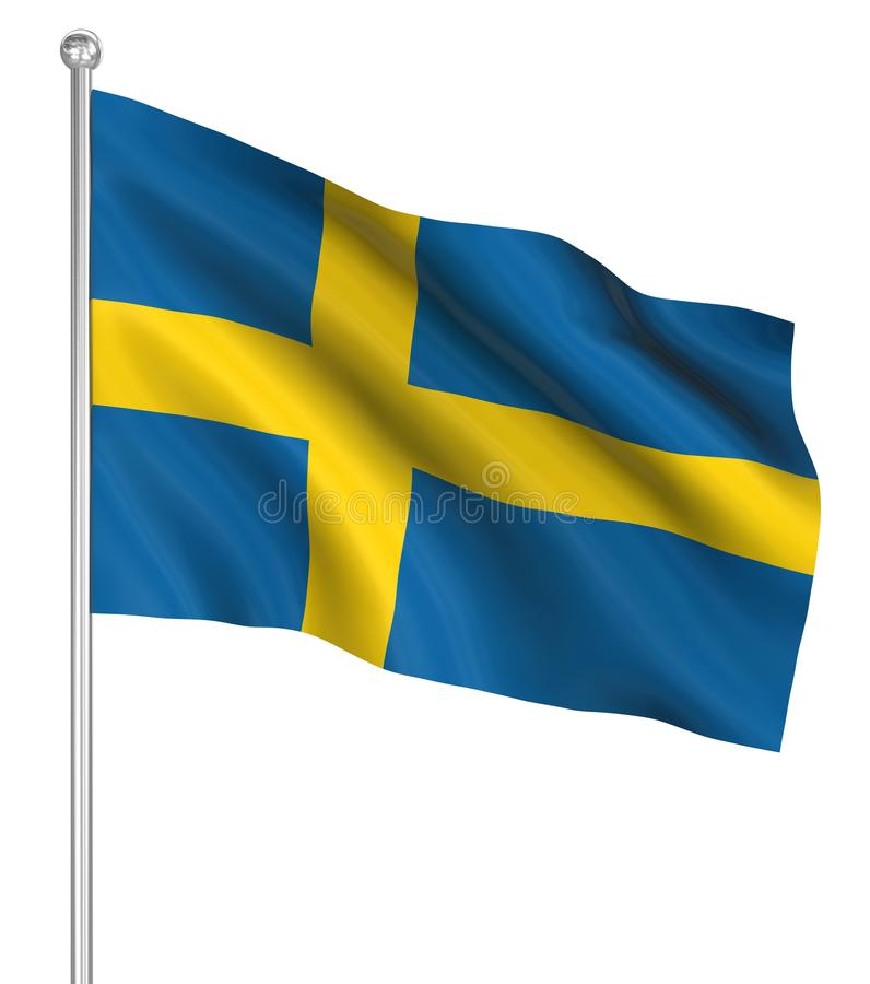 Country flag - Sweden royalty free illustration