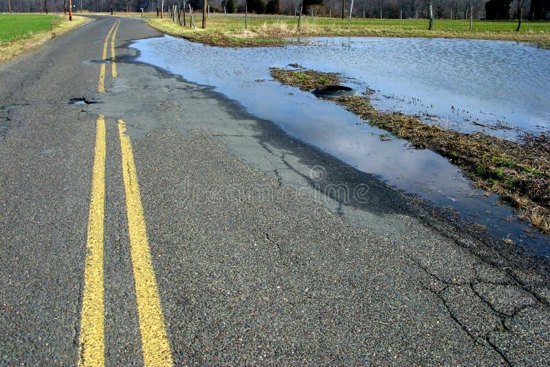 country flooded road στοκ εικόνες