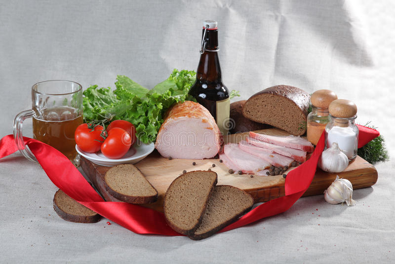 Country food. With vine and vegetables stock image