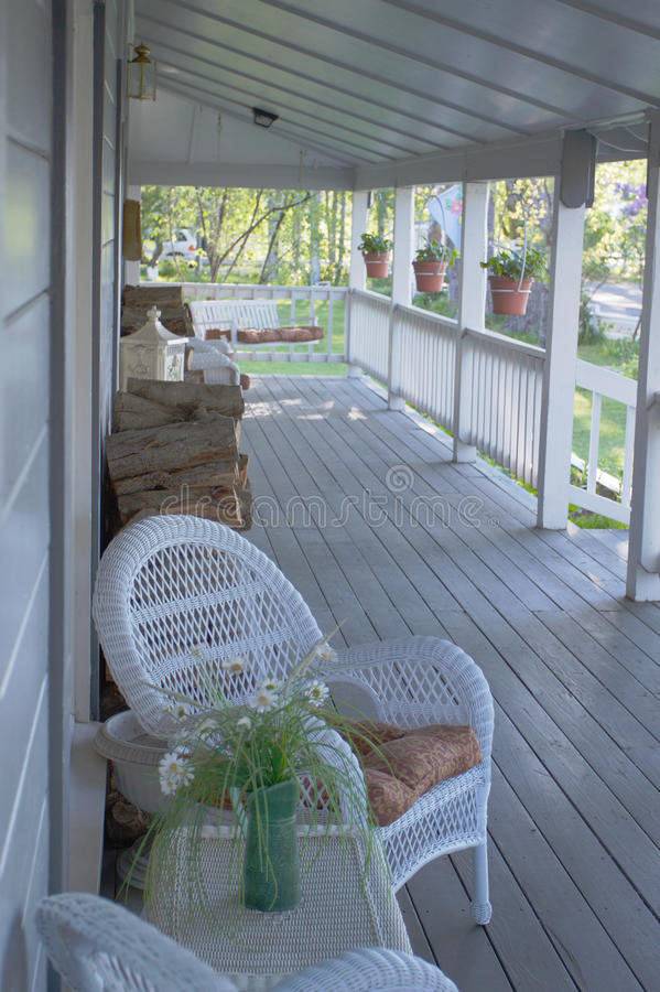 Country Front Porch royalty free stock image
