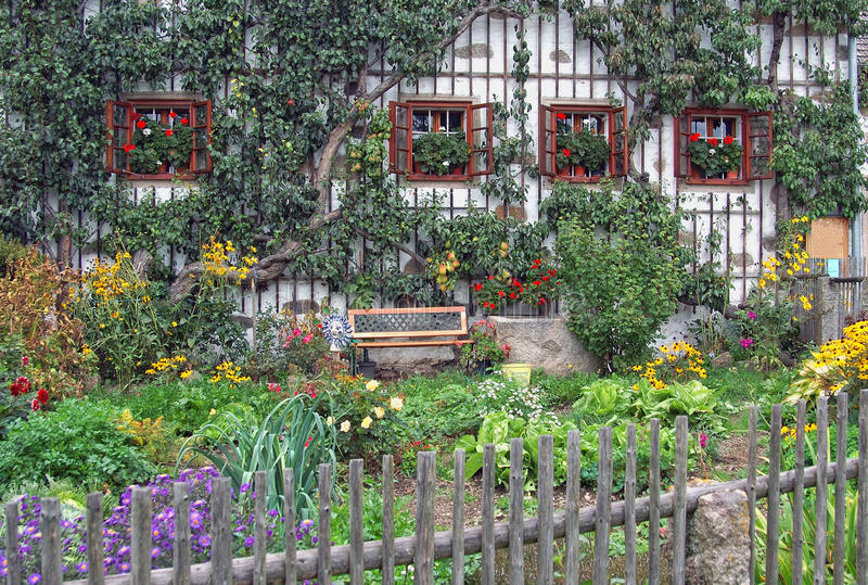 Country Garden. In Upper Austria stock image