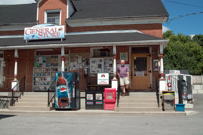Download Country General Store Clayton Ontario Canada Editorial Photo - Image of syrup, sign: 25920771