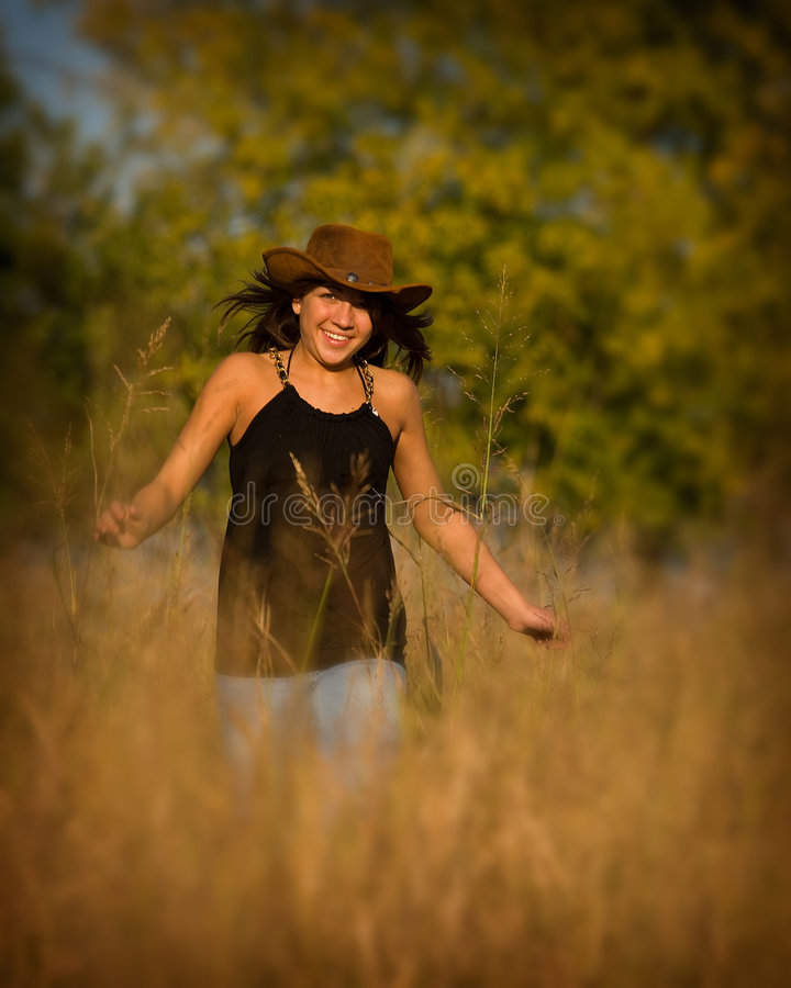 Country girl royalty free stock photography