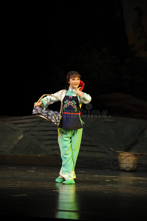 The country girl- Jiangxi opera a steelyard. Jiangxi opera a steelyard is adapted from a true story: the last century fortys, the protagonists father runs an oil royalty free stock photos