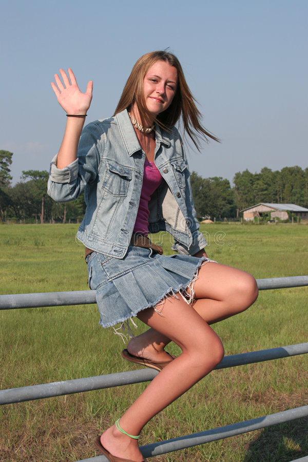 Download Country Girl Waves stock photo. Image of attractive, slender - 241622