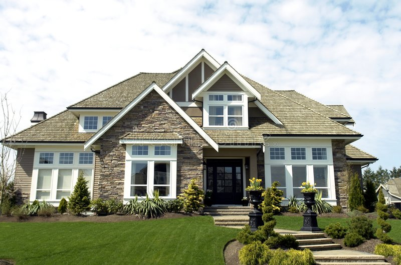 Country Home. Country dream home built in Morgan Creek Estates, Vancouver, BC stock photography