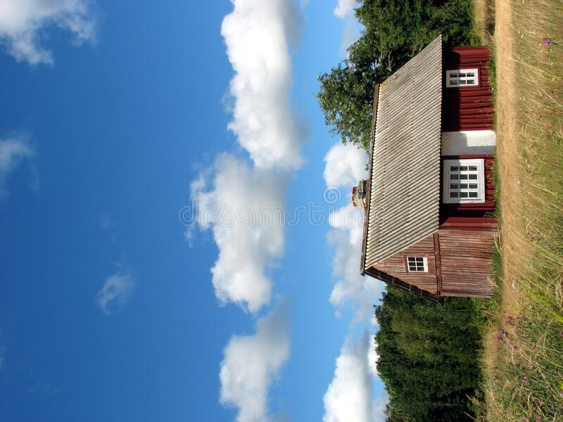 Country house. On a sunny day royalty free stock image