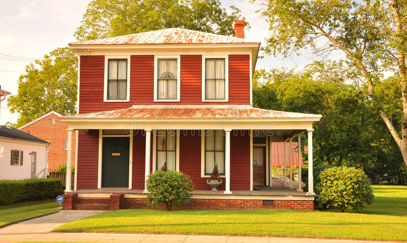 Country house. A colorful country house in Virginia stock image