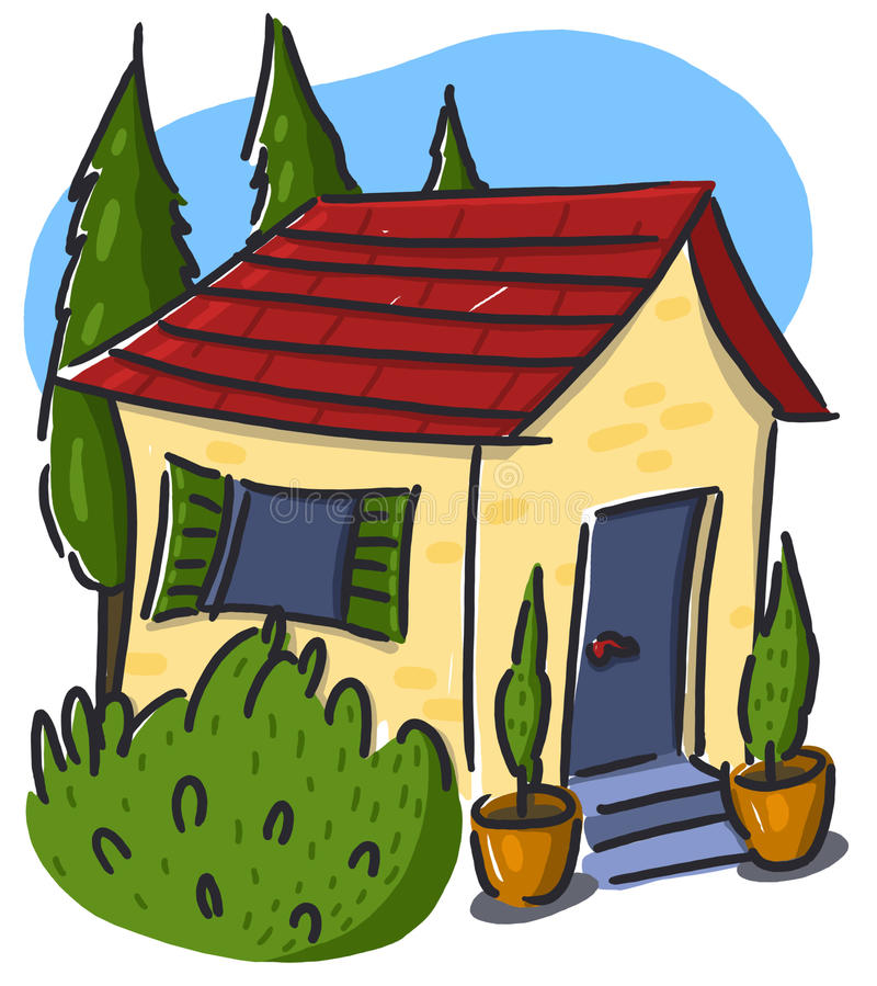 Download House illustration stock illustration. Image of finance - 12707018