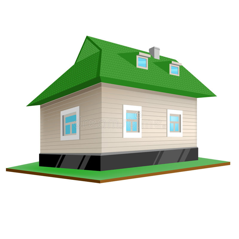 Download Country house stock vector. Illustration of detached - 17151630