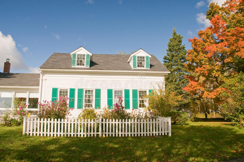Country house in autumn royalty free stock photography
