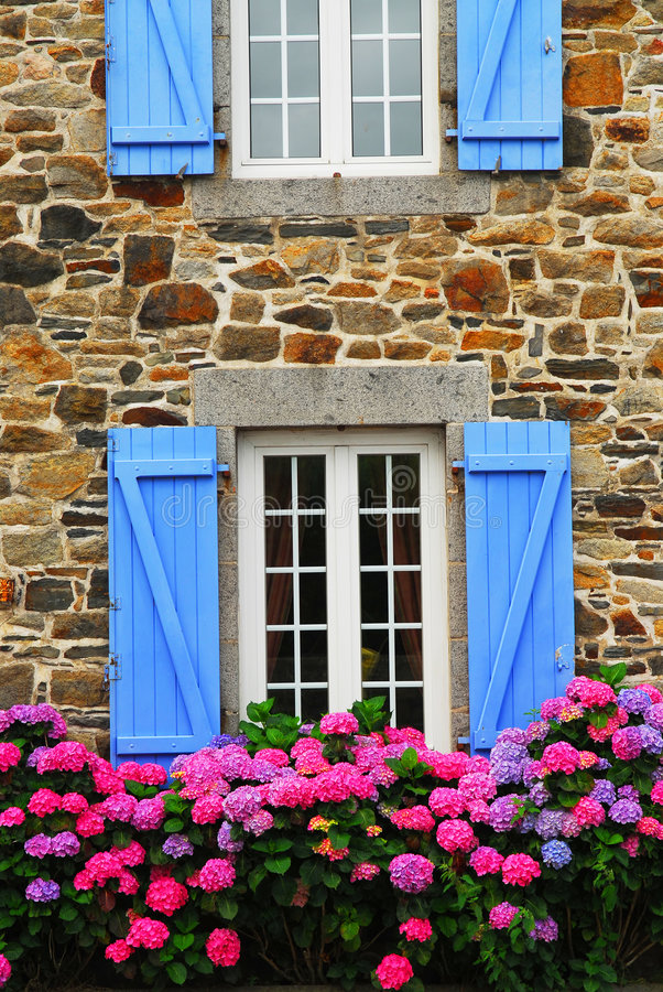 Download Country house in Brittany stock photo. Image of flowerbed - 3235308