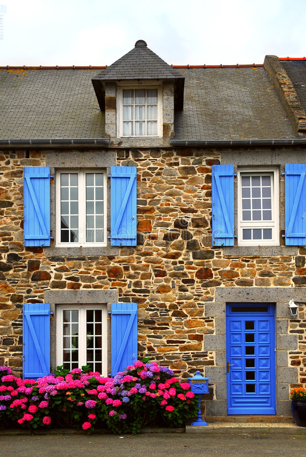 Download Country House In Brittany, Fra Stock Image - Image: 3235301