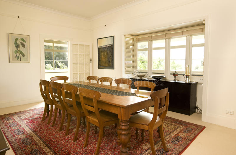 Download Country House Dining room stock image. Image of live - 12209913