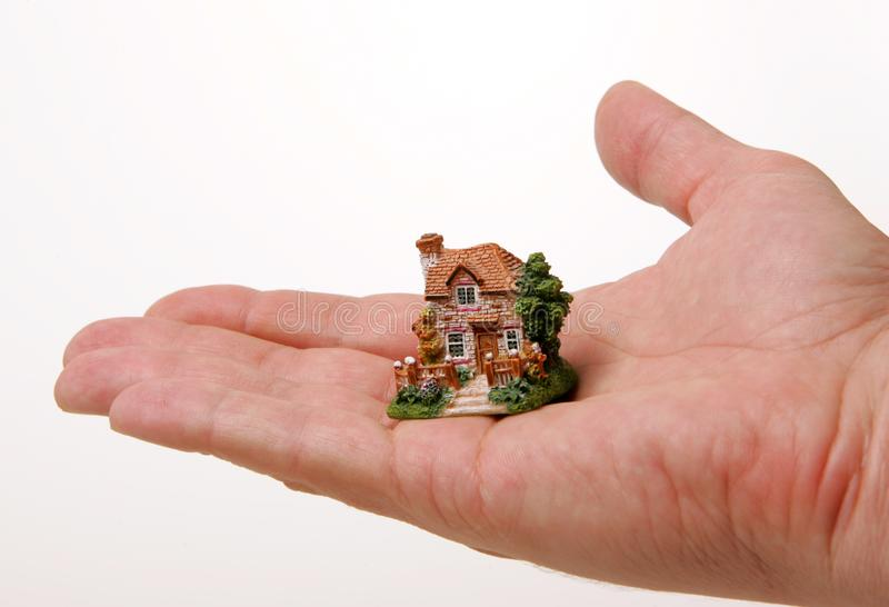 A country house on the hand stock images