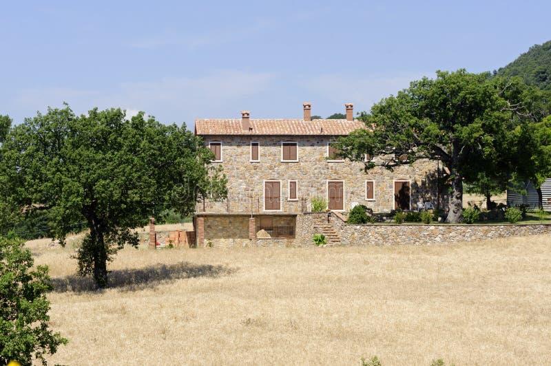 Country house in Maremma (Tuscany) royalty free stock photo