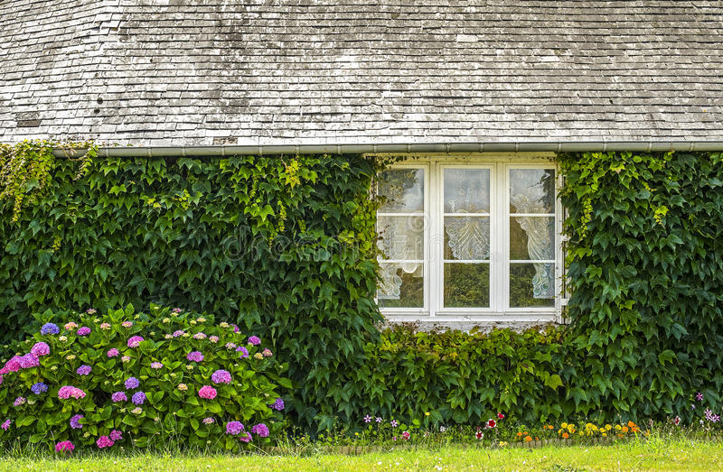 Country house in Mayenne stock photo