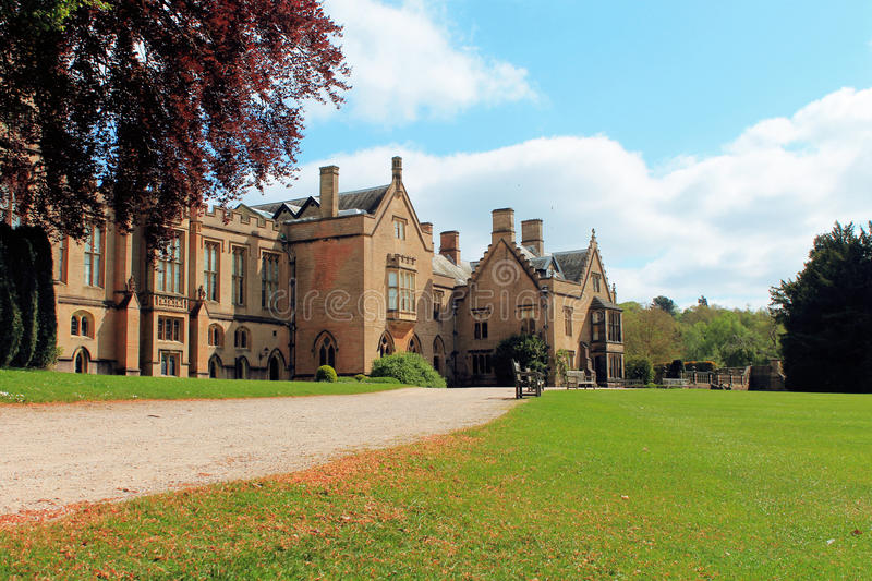 Country House at Newstead Abbey. A country house at Newstead Abbey in Nottinghamshire stock photos