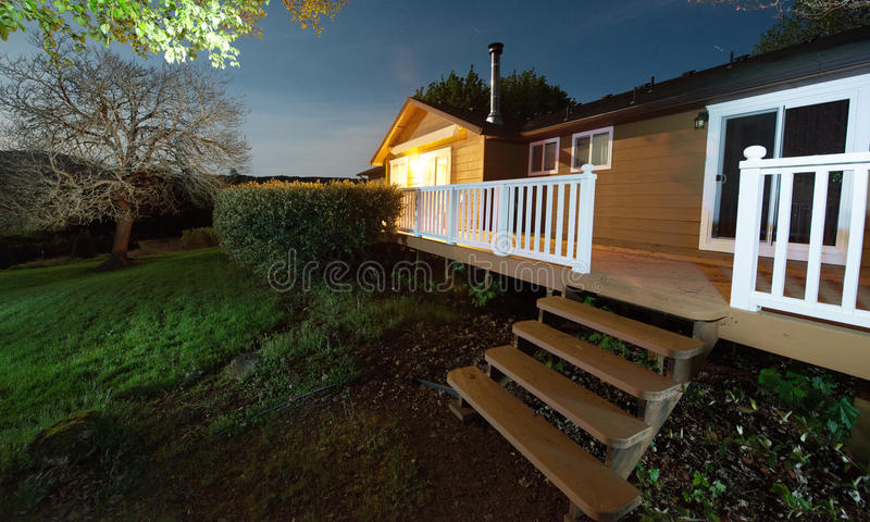 Country House at Night stock photos