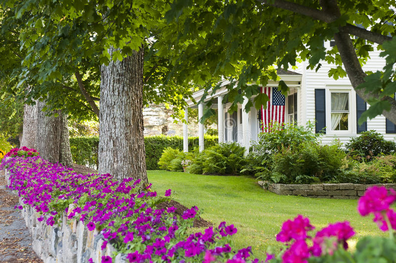 Country House Rock Garden Royalty Free Stock Image