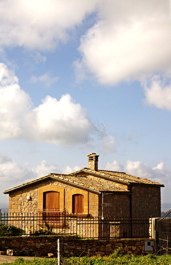 A country house in Sicily stock images
