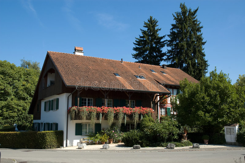 Country House Switzerland. Nice country house in Switzerland stock photos