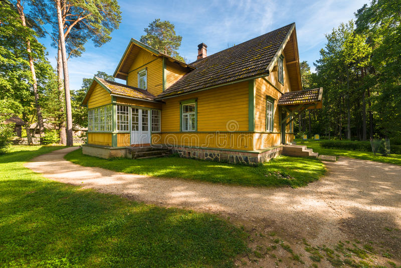 Country house. Traditional eastern-european country house of XX century stock images