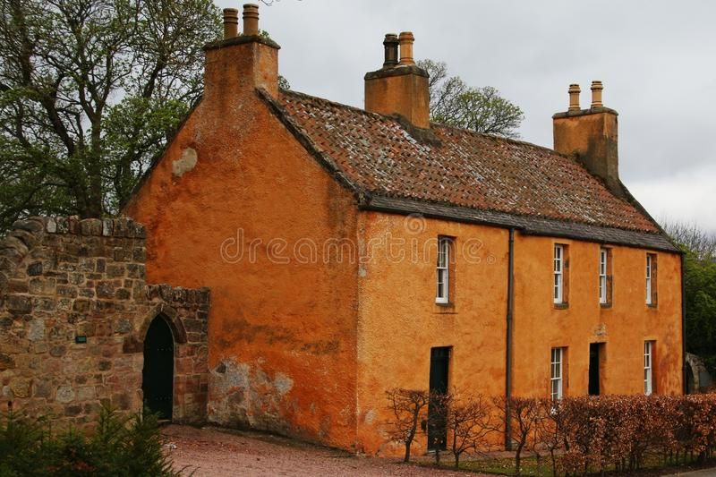 Country House. This country house was photographed a short walk from the Rosslyn Chapel in Scotland. The chapel is a popular tourist attraction. This house with stock photos