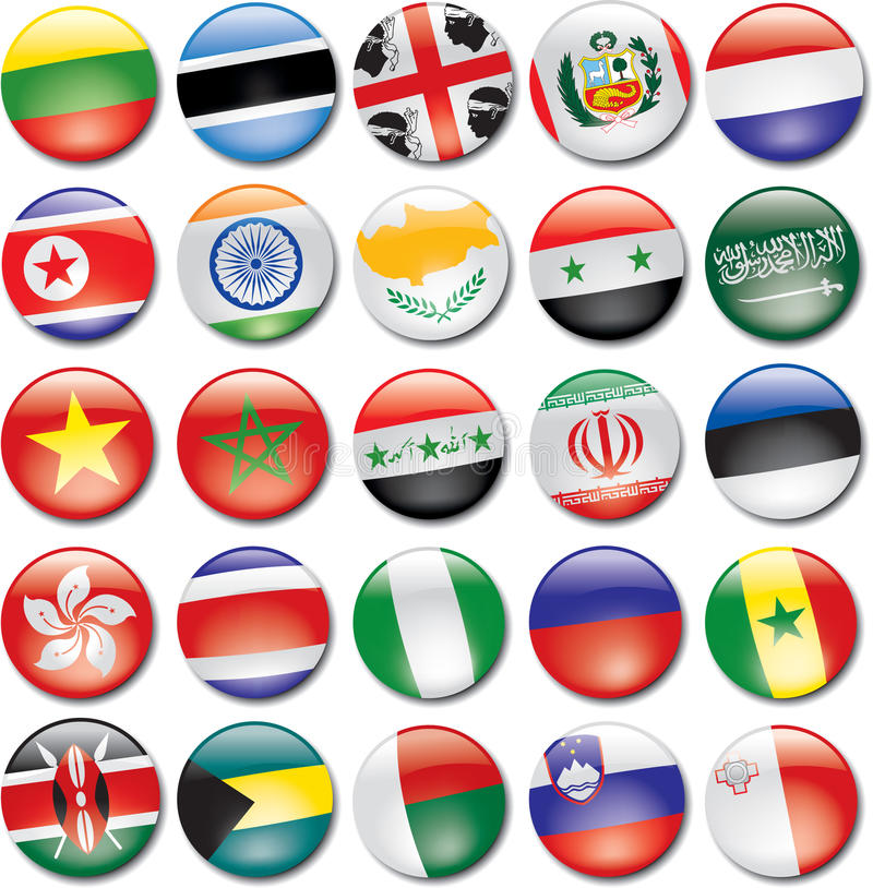 Download Country Icons stock vector. Image of korea, iraq, madagascar - 13762885