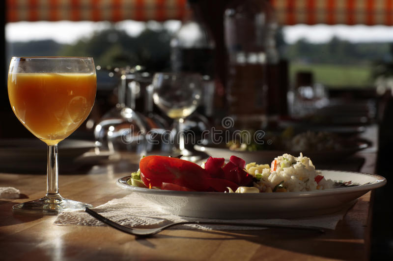 Download Country inn supper dish stock photo. Image of diningroom - 12555346