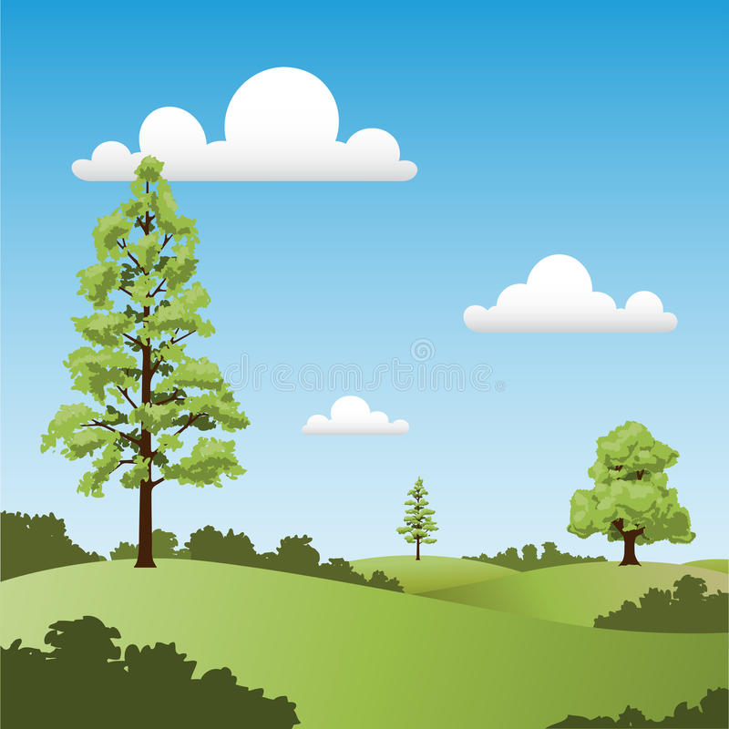 Download Country Landscape stock vector. Image of lush, meadow - 15230595