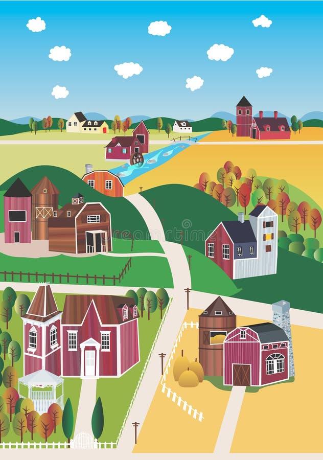 country landscape иллюстрация штока