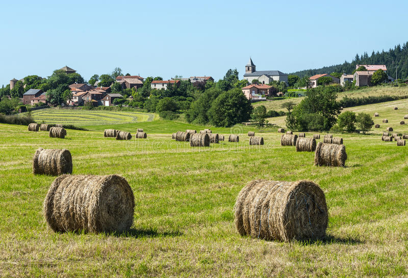 Country landscape in Aveyron (France)