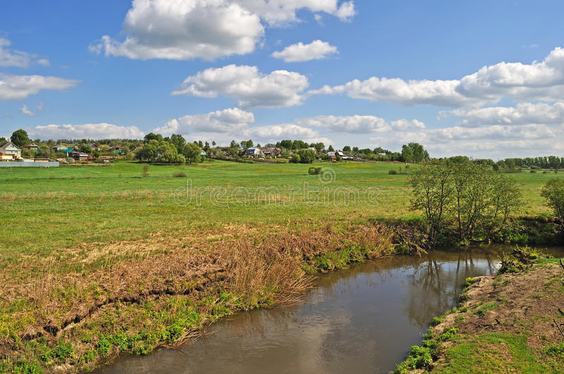 Download Country Landscape With A River Stock Image - Image: 19633207