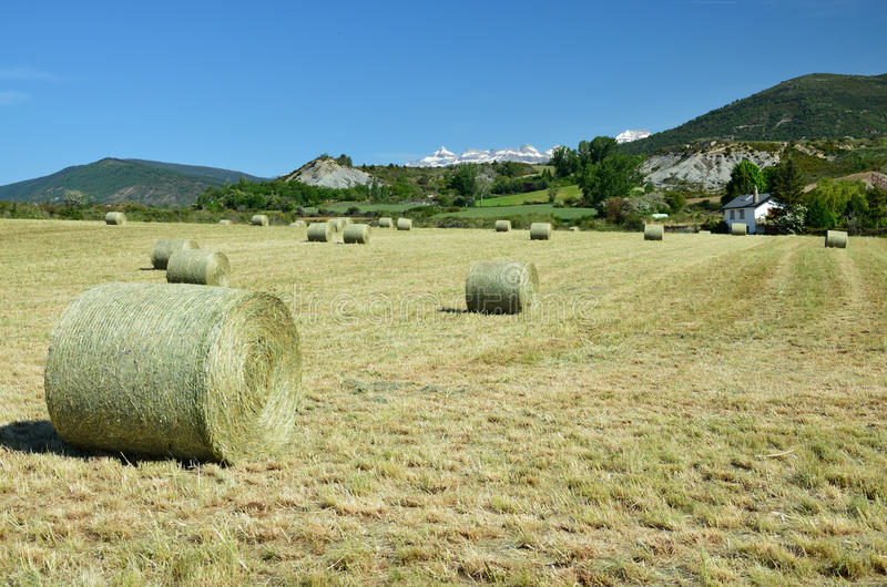 Country landscape in the Spanish Pyrenees stock photo