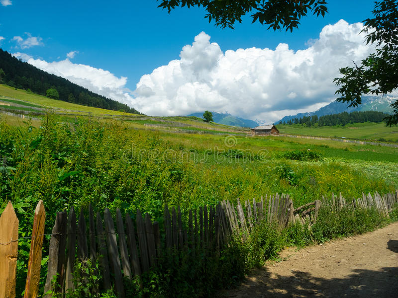 Download Country Landscape In Svaneti Stock Photo - Image: 33306532