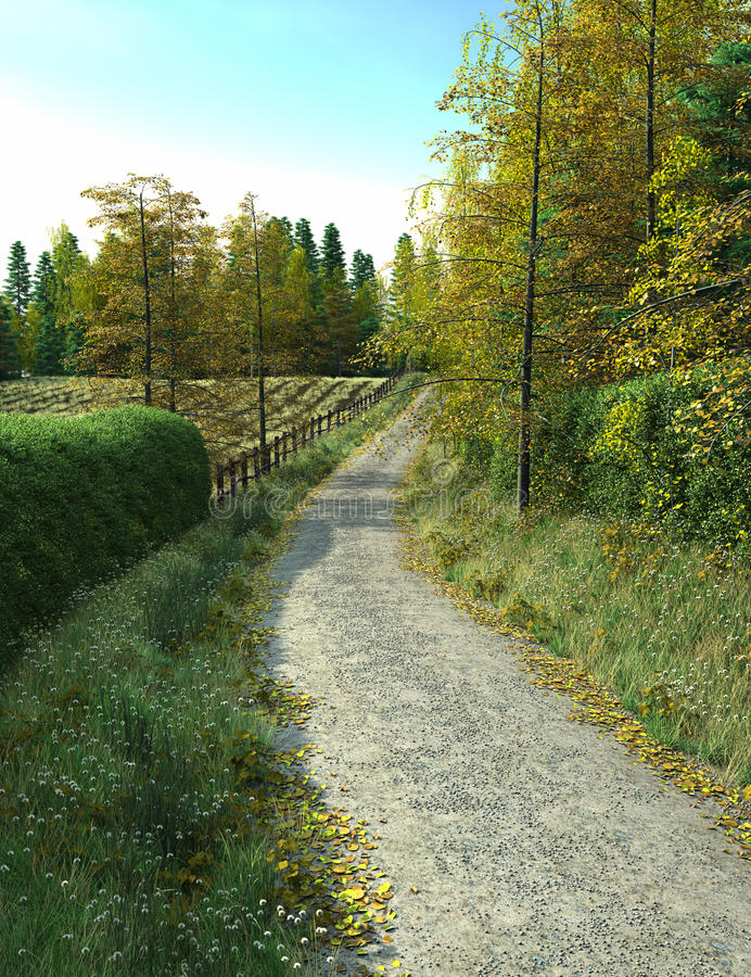 Country Lane stock illustration