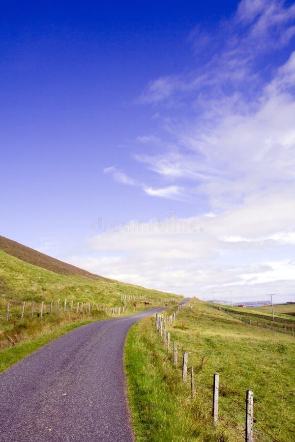 Country lane stock image