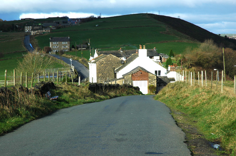 Country Lane in Mossley stock image