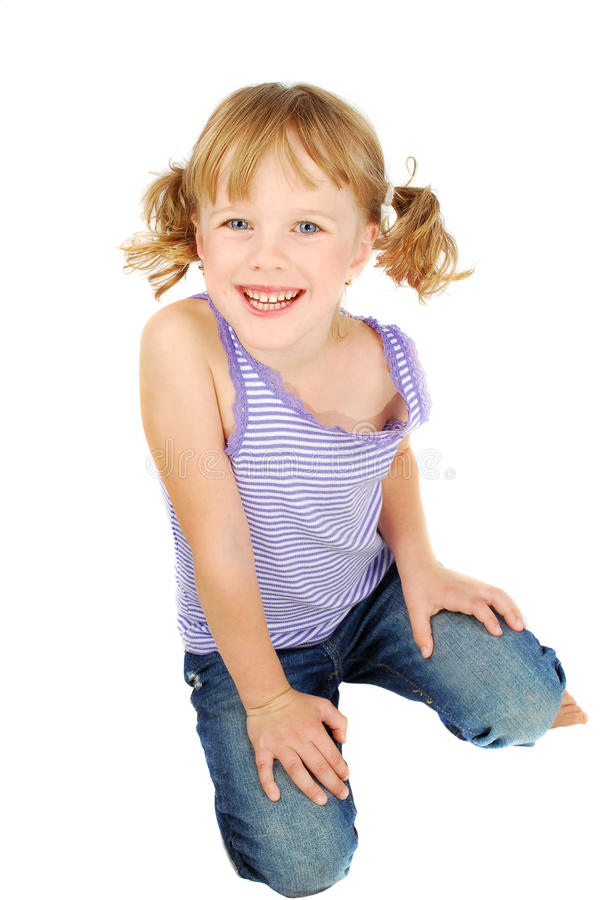 Country little girl. stock photo