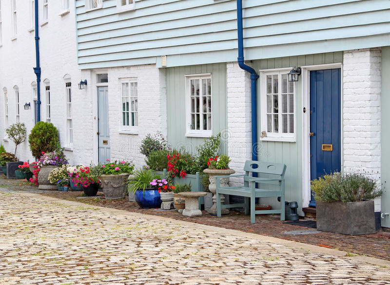 Country mews cottages royalty free stock photography
